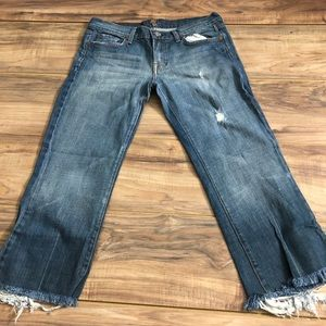 Women's 7 For All Mankind Cropped Jeans Sz 30
